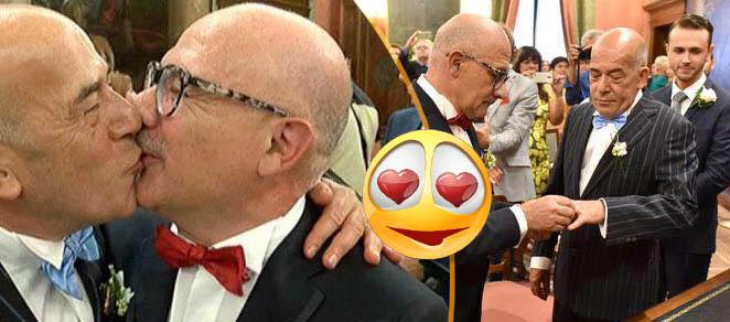 Luciano e Mauro, nozze gay, Verona