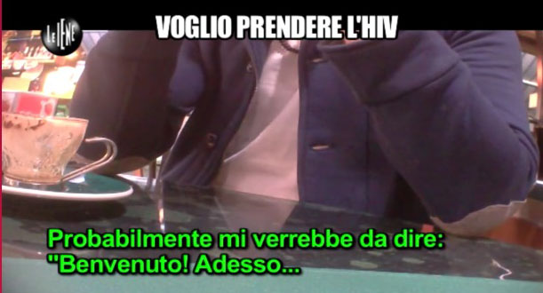 le iene, video, prendere l'hiv