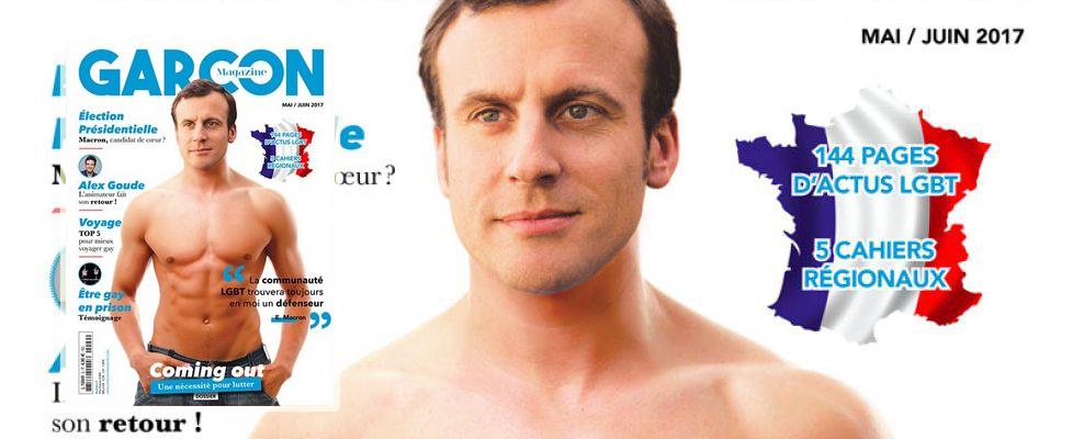 Macron a torso nudo sulla rivista gay: Coming out
