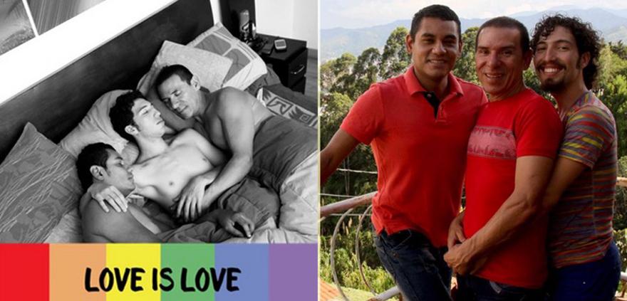 """Colombia, ufficializzata la prima famiglia poliamorosa formata da tre gay: """"Ora siamo al 100 per cento legali"""""""