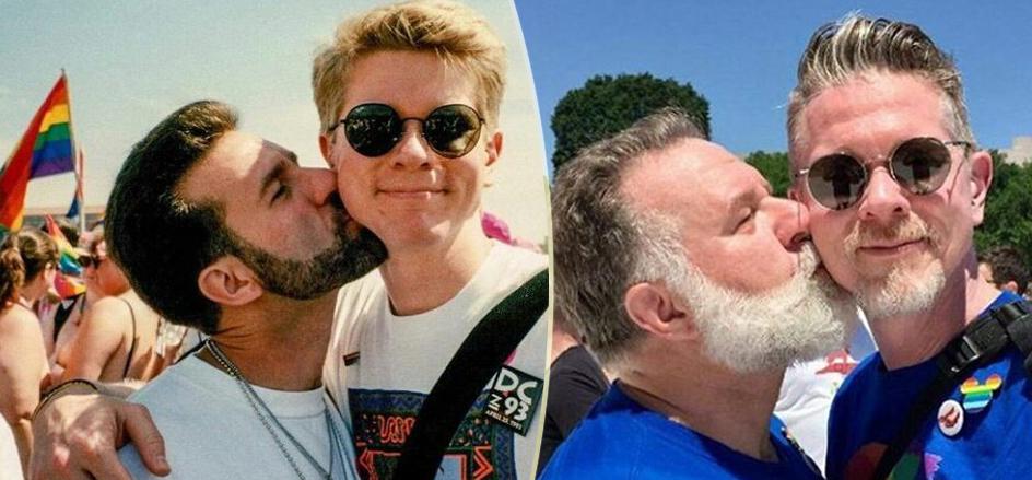 """Pride, """"24 anni dopo stiamo ancora insieme"""": la foto della coppia gay che ha emozionato il web"""