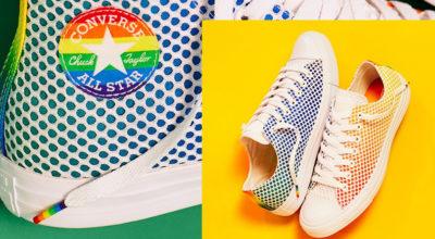 Le All Star Chuck Taylor si vestono nei colori dell'arcobaleno.
