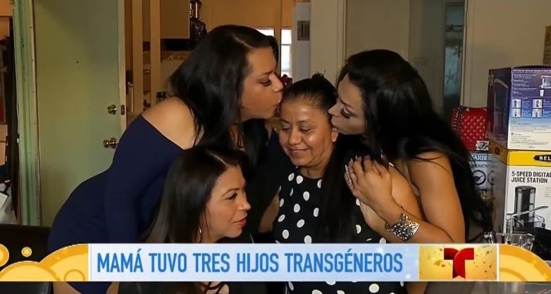 Non una, non due ma tre figlie trans: la storia di una mamma latina che sta facendo il giro del mondo (VIDEO)