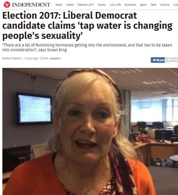 """Elezioni, la candidata: """"Non bevete l'acqua del rubinetto, fa diventare gay"""""""