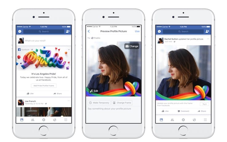 facebook, mese dell'orgoglio, giugno, pride