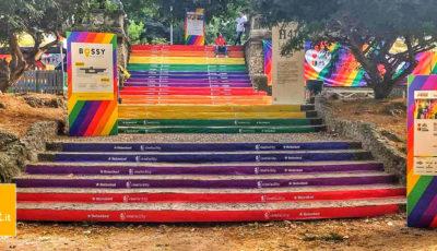 rainbow, scalinata, milano
