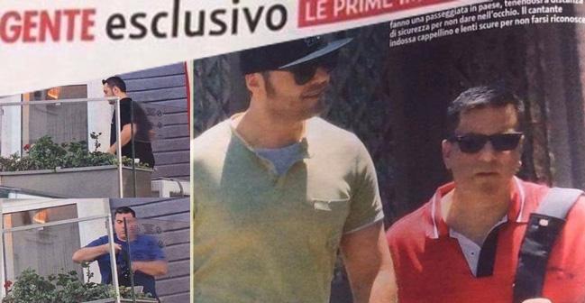 Tiziano Ferro si è fidanzato: eccolo in vacanza a Taormina