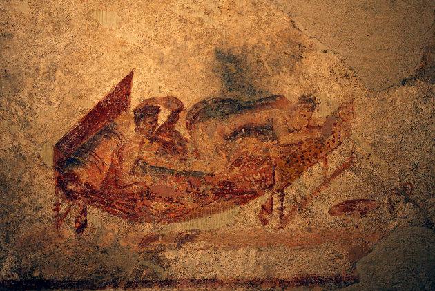 pompei, dipinti gay