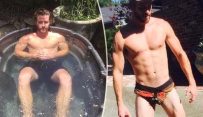 Liam Hemsworth sexy mostra il fisico in costume e in vasca