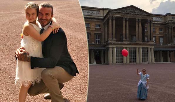 Compleanno della figlia a Buckingham Palace: è bufera sui Beckham