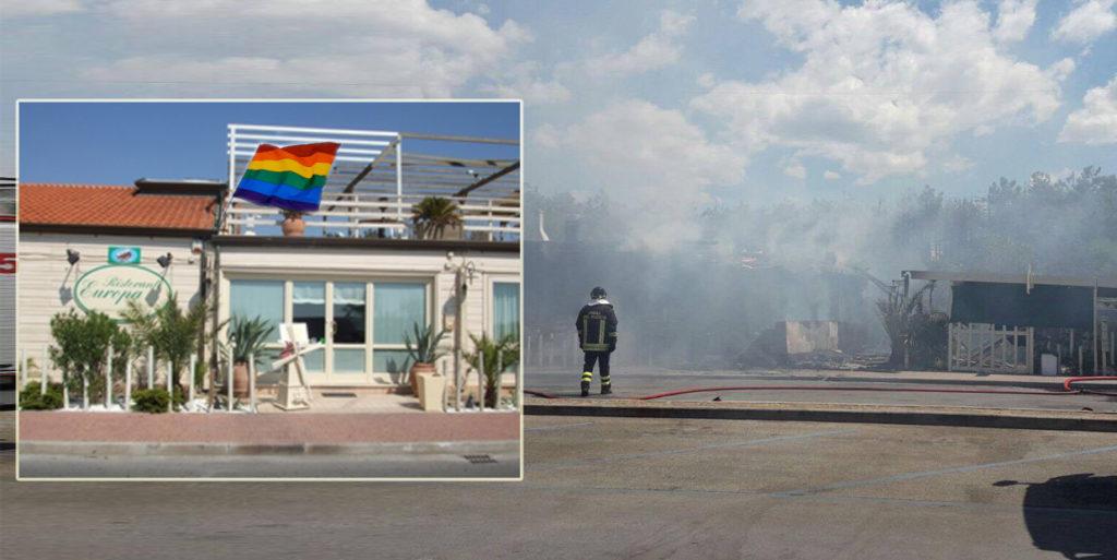 Bruciato il ristorante Gay-friendly a Torre del Lago: in pericolo il Mamamia e il Boca Chica