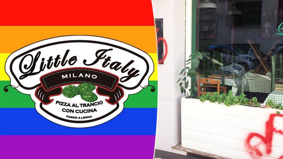 Milano, attacco omofobo alla pizzeria LGBT Little Italy