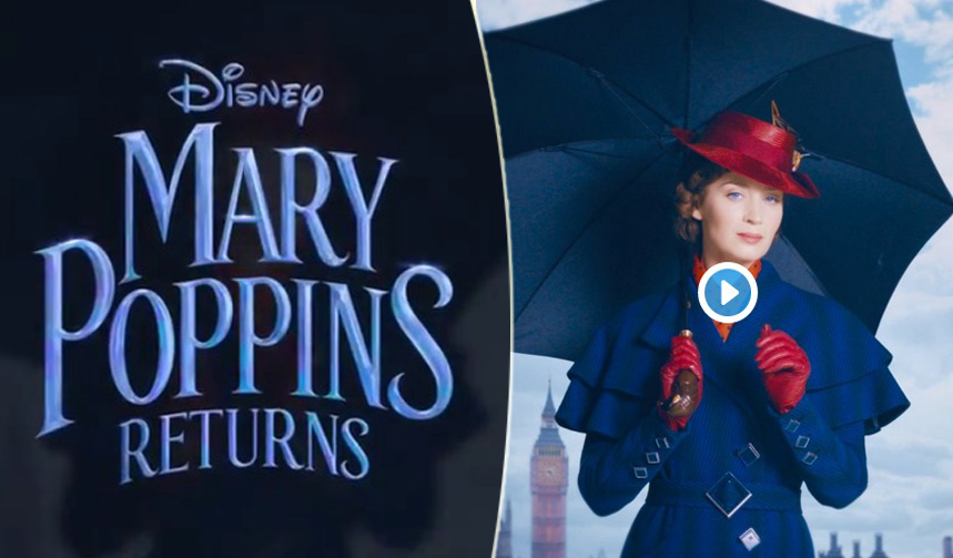 """""""Mary Poppins"""", Emily Blunt nel primo motion poster"""