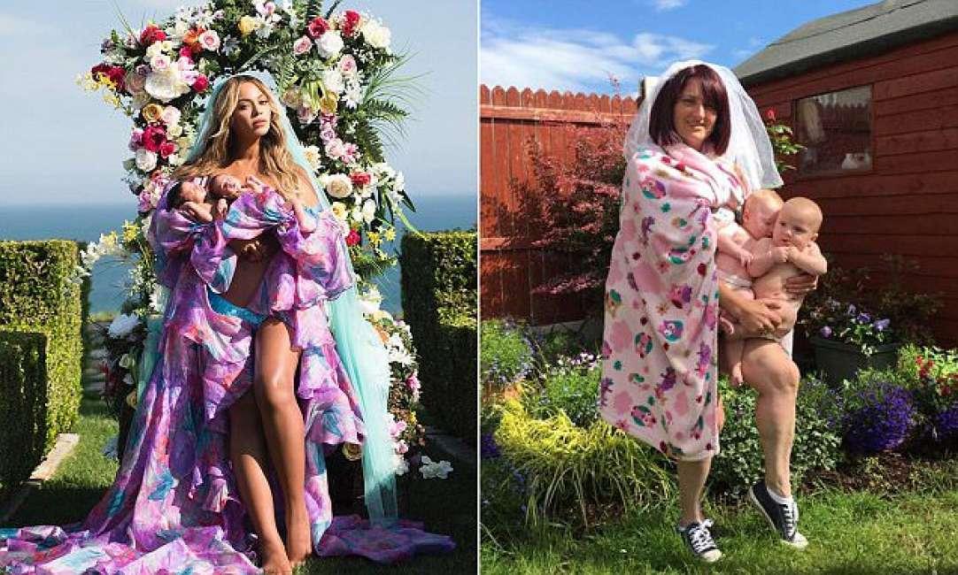 Beyoncé con i gemelli: la parodia che sta facendo il giro del web