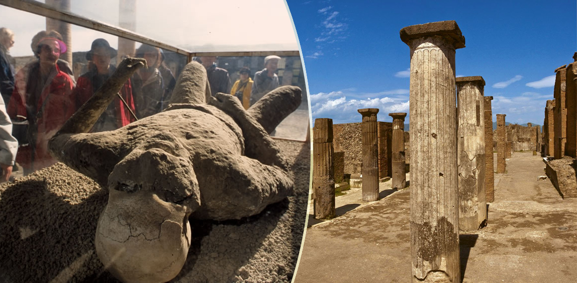 Pompei: è diventata virale la foto della salma dell'uomo morto mentre si masturbava