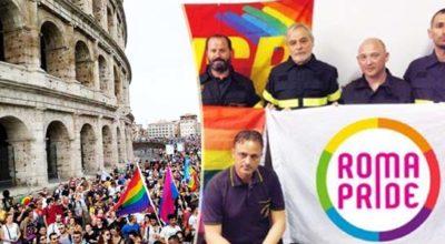 """Roma Pride: procedimento disciplinare per il pompiere che ha sfilato in divisa. """"Non era stato autorizzato"""""""