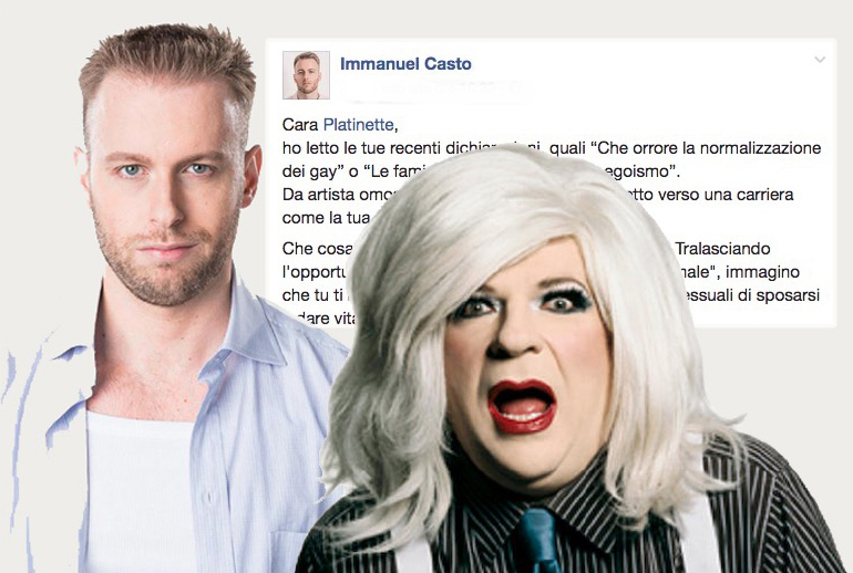 """Immanuel Casto attacca Platinette: """"ci diresti qual'è il modo giusto di essere omosessuali?"""""""
