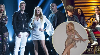 Emma Bunton canta Say You'll Be There con i finalisti di Boy Band