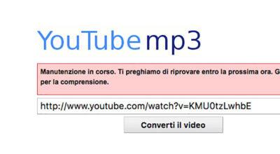 Addio al convertitore audio per YouTube