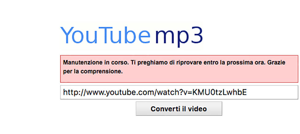 Addio al convertitore audio per YouTube