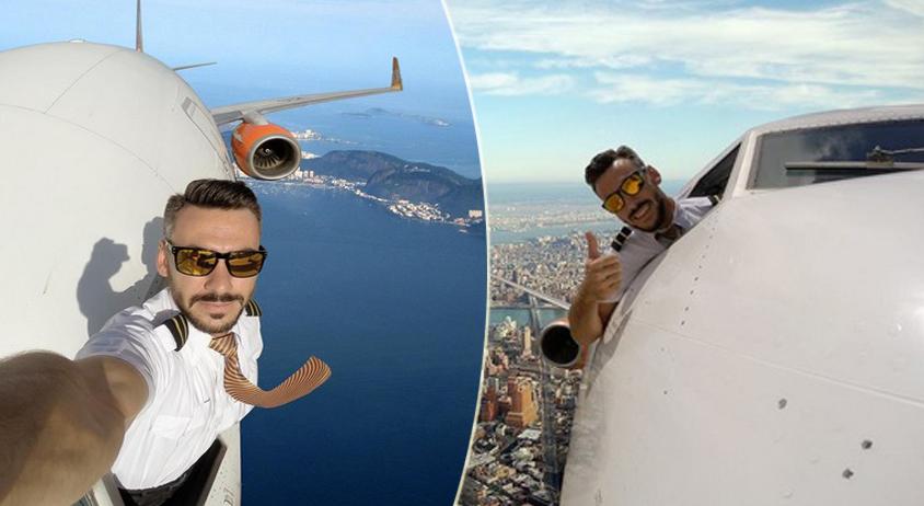 Pilotganso, instagram, selfie volo