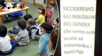 """Liguria, minacce di morte davanti ad asili: """"Uccideremo gli insegnanti del gender che vanno nelle scuole ad imbastardire i nostri figli"""""""