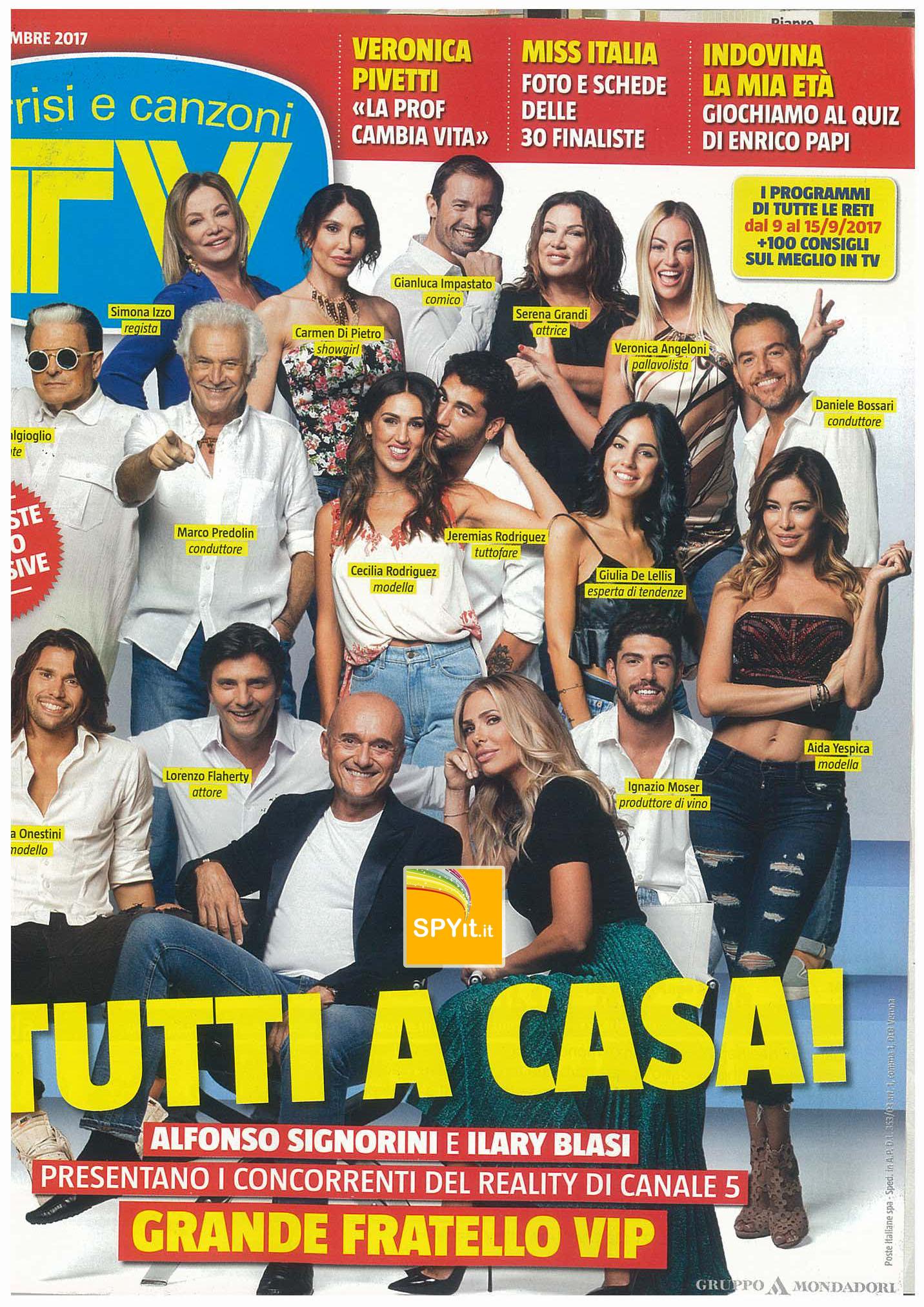 GFVip 2: la prima foto ufficiale per TV Sorrisi e Canzoni