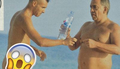 Gulliermo Mariotto si gode il sole di Formentera con un amico molto dotato