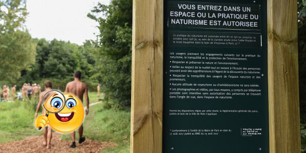 nudismo, parco, parigi