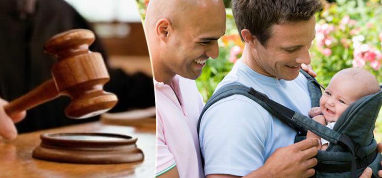 giudice,coppia gay