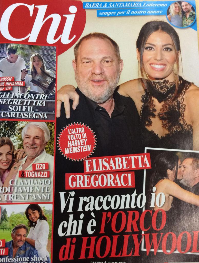 Copertina chi, Elisabetta Gregoraci, Harvey Weinstein