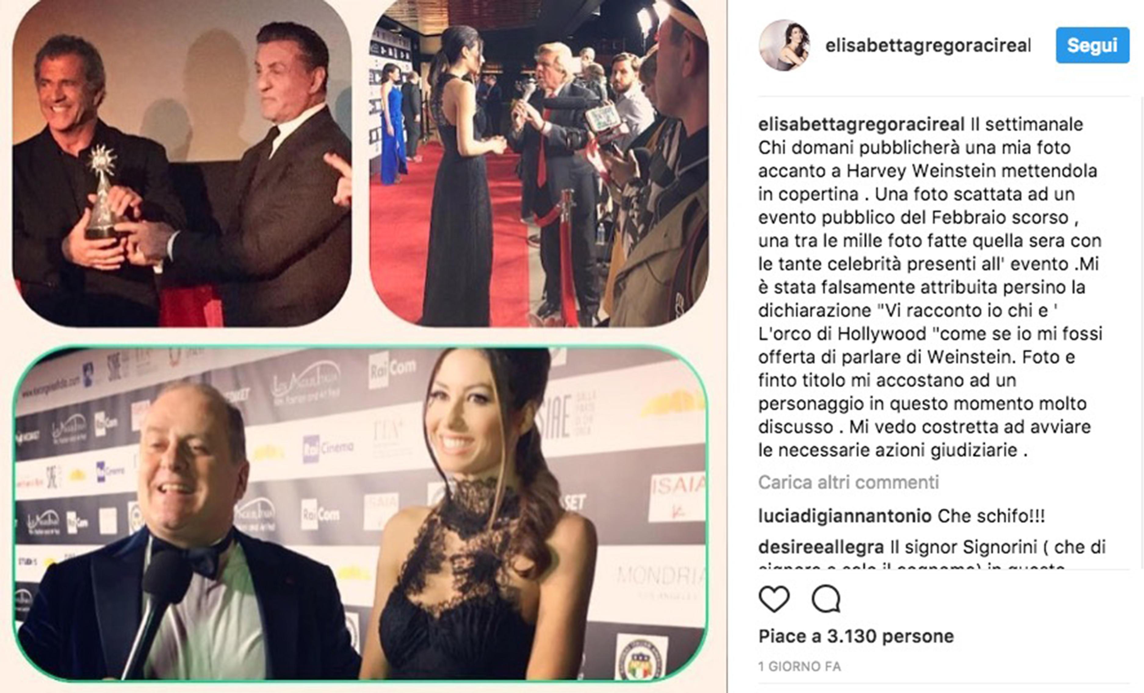 Elisabetta Gregoraci, Harvey Weinstein