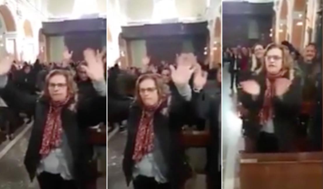 """""""Chi non salta non ci crede"""": fedeli trasformano una chiesa in una sala da ballo con cori e danze"""