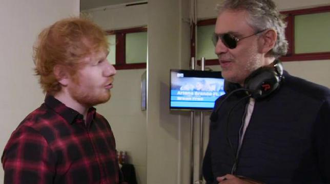 Ed Sheeran con Andrea Bocelli