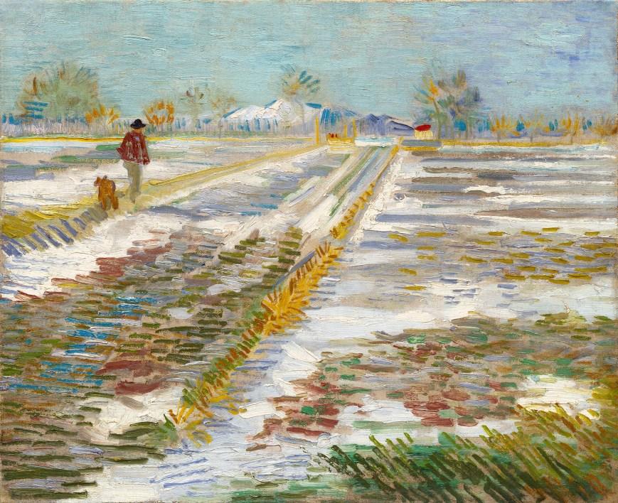 'Landscape with snow' van gogh