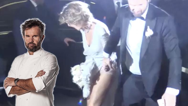 Matrimonio cracco il vestito della sposa si impiglia in for Cracco a palazzo