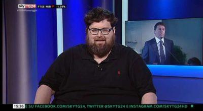 Mario Adinolfi ospite a Sky tg 24