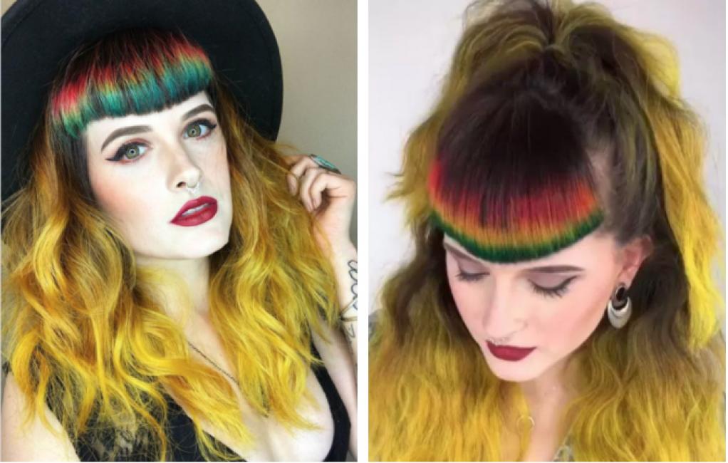 Moda, arriva la frangia arcobaleno: ecco come si fa (VIDEO)