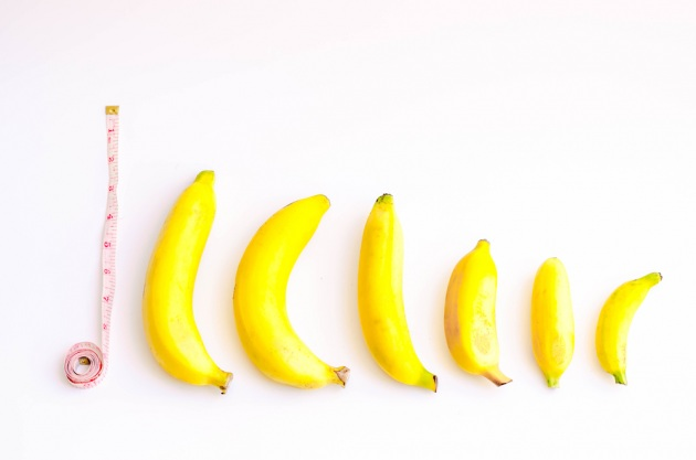 pene, misura, banana