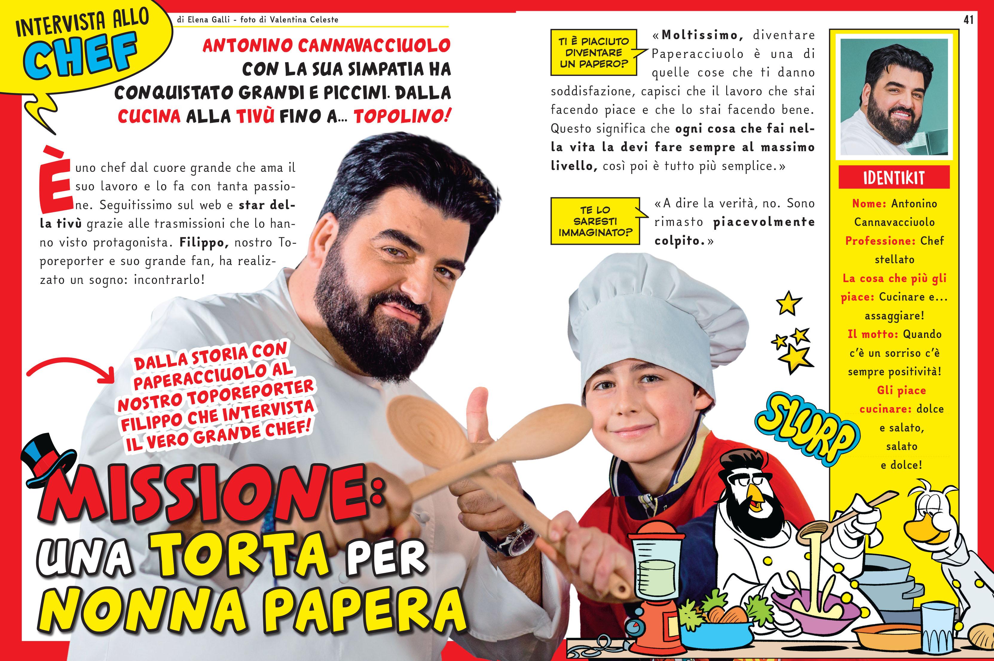 Cannavacciuolo diventa Chef paperacciuolo per Topolino