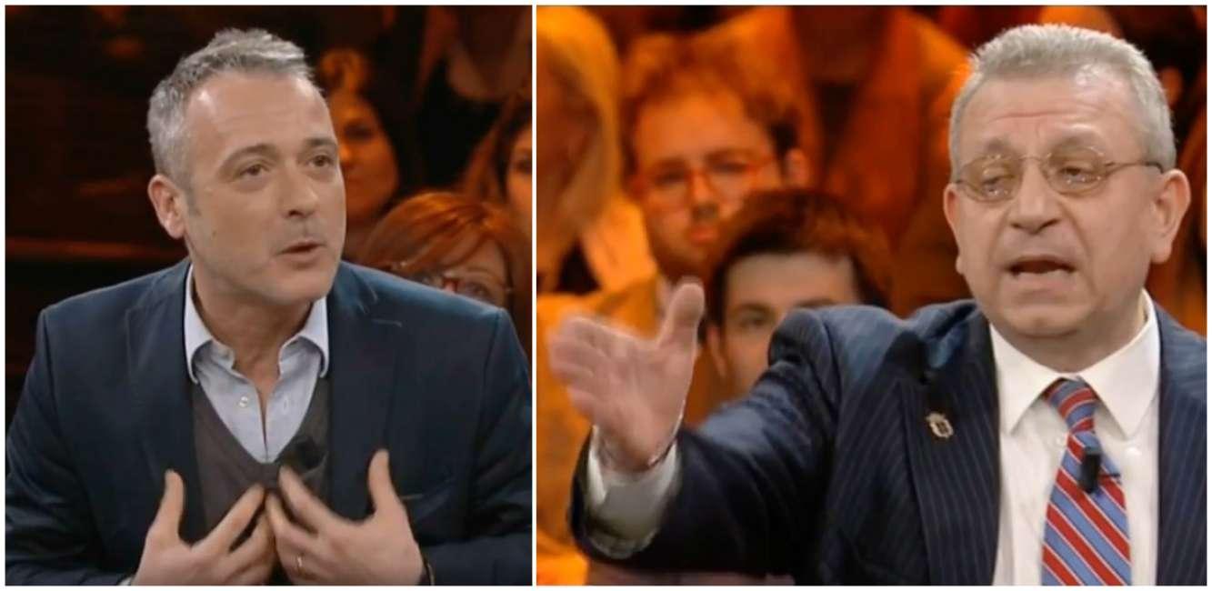Pierluigi Diaco insultato in tv