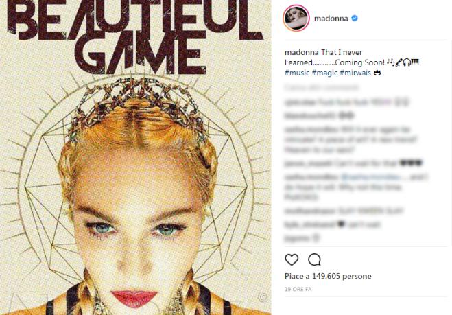 Madonna arriva l'annuncio: nuovo singolo in arrivo