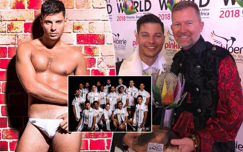 Mr. Gay World 2018- vince Jordan Bruno