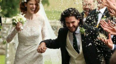 Si sono sposati in Scozia gli attori della serie cult Kit Harington e Rose Leslie