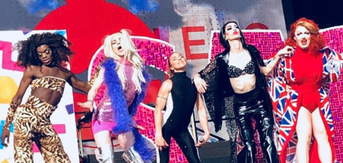 melanie c, drag queen, spice girls