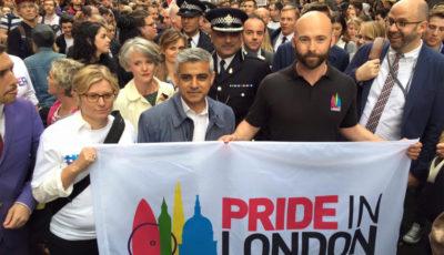 Sadiq Khan, sindaco londra, pride, lgbt