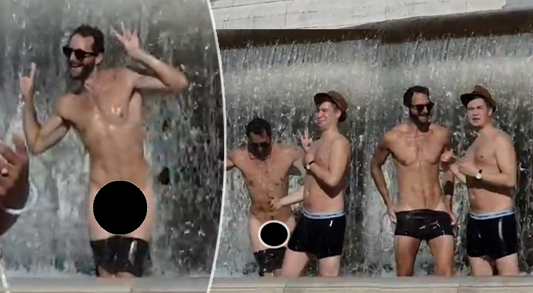 nudi roma fontana turisti