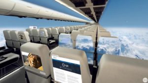 Gli aerei senza finestrini trasformeranno il volo in un'esperienza indimenticabile...