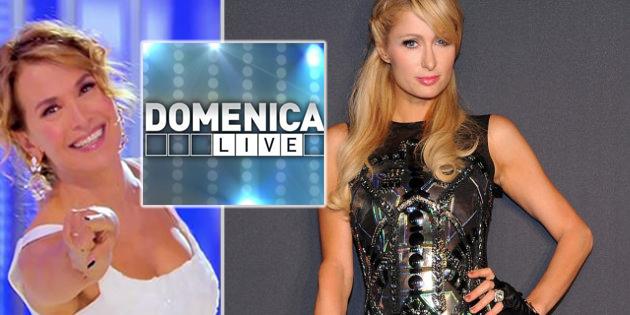 Paris Hilton, domenica live, barbara durso