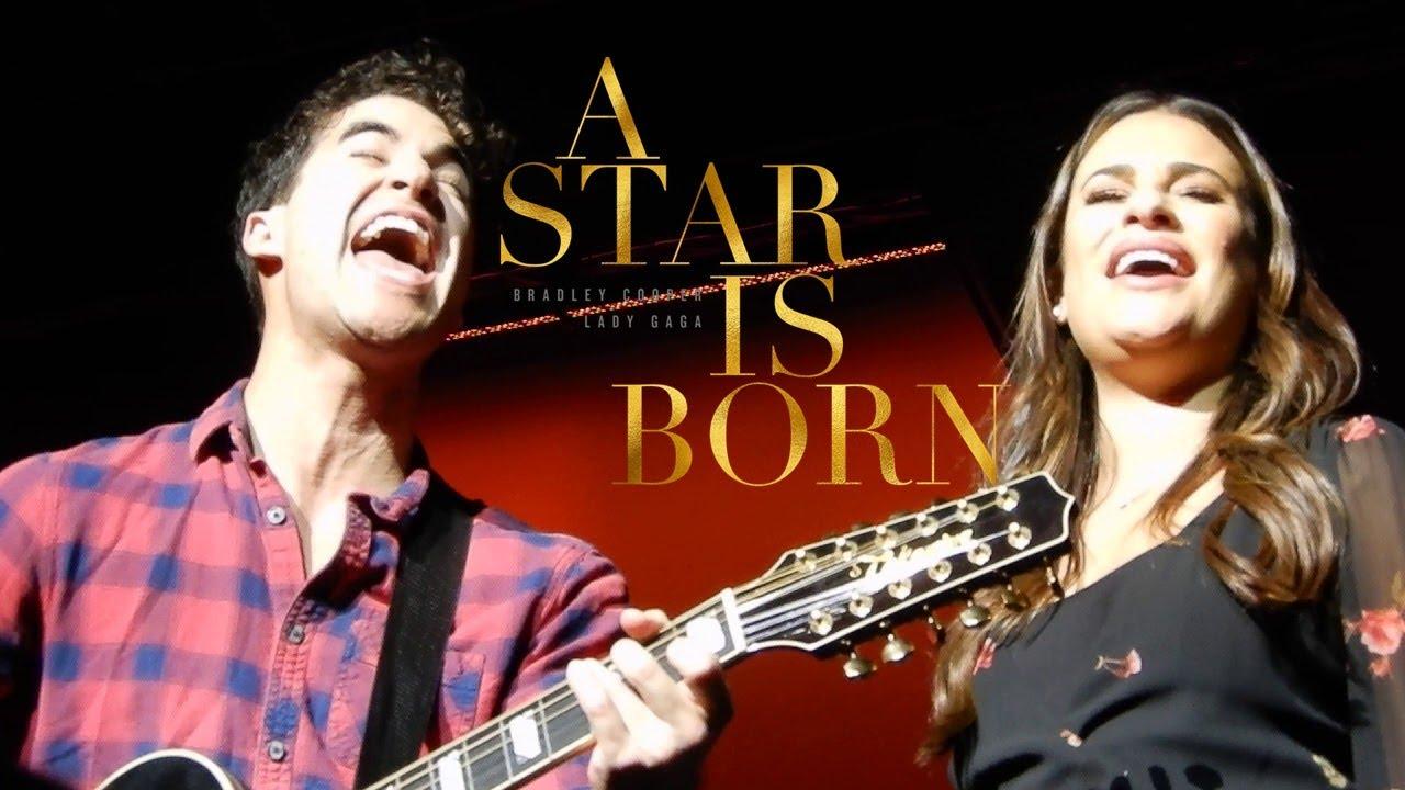 lea michele a star si born shadow lady gaga cover